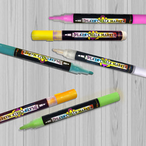 Display of Plata Chalk Paint Pens for chalkboards, rocks, stones & glass