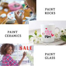 Load image into Gallery viewer, Uses for Plata Paint Pen Markers paint on Rocks, Paint on ceramics or wine glasses, paint advertisement on a store window