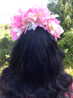 Natura Aura - Pink/White Flower Fascinator