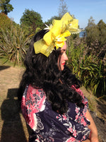 Natura Aura - Flower Fern Yellow Fascinator