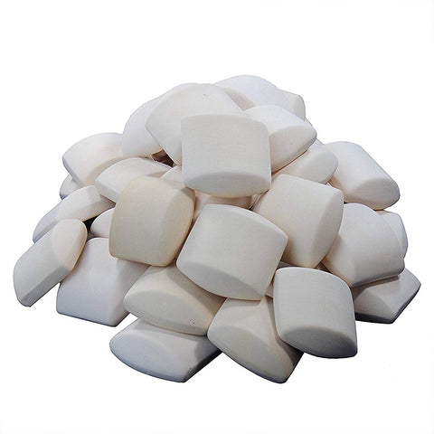 60 Ceramic Briquettes For BBQ Grilling Heat Distribution