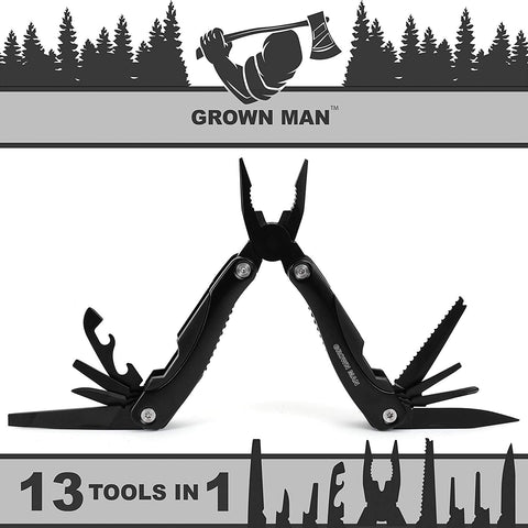 Grown Man™ Survivor Multi Tool - Black