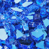 Cobalt Blue Reflective Tempered Fire Glass