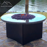 Dark Purple Reflective Tempered Fire Glass