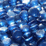 Light Blue Reflective Fire Glass Beads