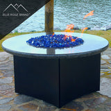 Reflective Fire Glass Blend - Cobalt Blue and Aqua Blue