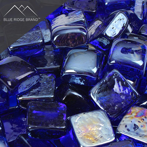 Dark Blue Reflective Fire Glass Cubes