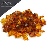Light Amber Non-Reflective Tempered Fire Glass