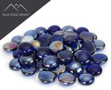 Dark Blue Reflective Fire Glass Beads
