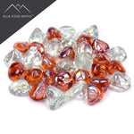 Pink Champagne and Clear Blend Reflective Fire Glass Diamonds