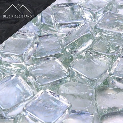 Clear Reflective Fire Glass Cubes