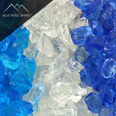 Ocean Fire Glass Blend - Sky Blue, Crystal, Blue