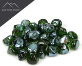 Green Reflective Fire Glass Diamonds