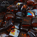 Amber Reflective Fire Glass Cubes