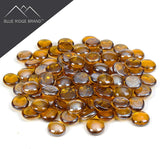 Middle Amber Reflective Tempered Fire Glass Beads