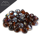 Amber Reflective Fire Glass Diamonds