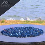 Blue Reflective Tempered Fire Glass