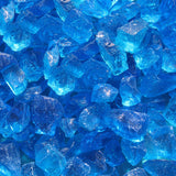 Light Blue Non-Reflective Tempered Fire Glass
