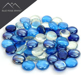 Reflective Fire Glass Bead Blend - Clear, Dark Blue, Light Blue