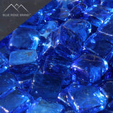 Light Blue Reflective Fire Glass Cubes