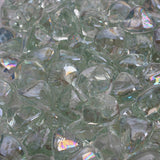 Clear Reflective Fire Glass Diamonds