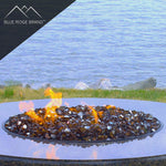 Copper Reflective Tempered Fire Glass