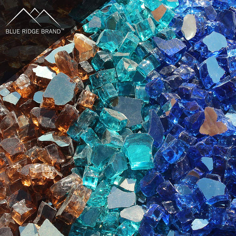 Reflective Fire Glass Blend - Copper, Cobalt Blue, Aqua Blue
