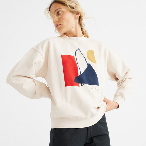 weißes sweat shirt grafischer print thinking mu
