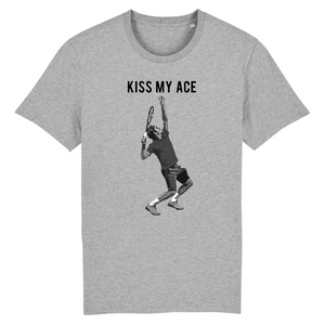 T-shirt Kiss my ace Noir Blanc Homme