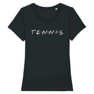 T-shirt Tennis friends blanc Femme