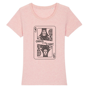 T-shirt carte Queen of the court Femme