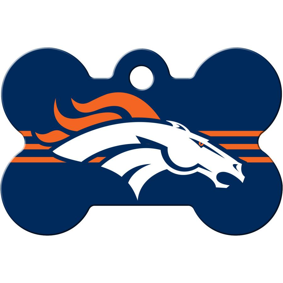 Denver Broncos NFL Pet ID Tag - Large Bone