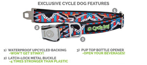 Cycle Dog Skulls n Bikes Dog Collar