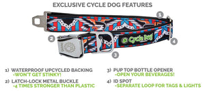 Cycle Dog Red Orange Kaleidoscope Dog Collar - Uptown Pups
