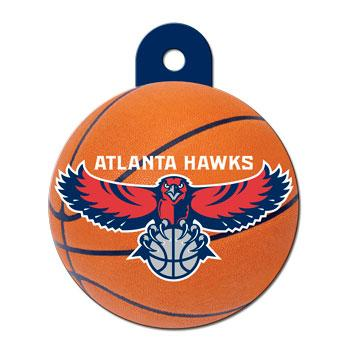 Atlanta Hawks NBA Pet ID Tag - Large Circle - Uptown Pups