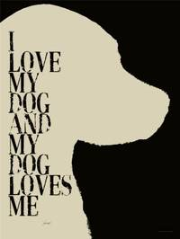 Artehouse I Love My Dog and My Dog Loves Me Wooden Signs