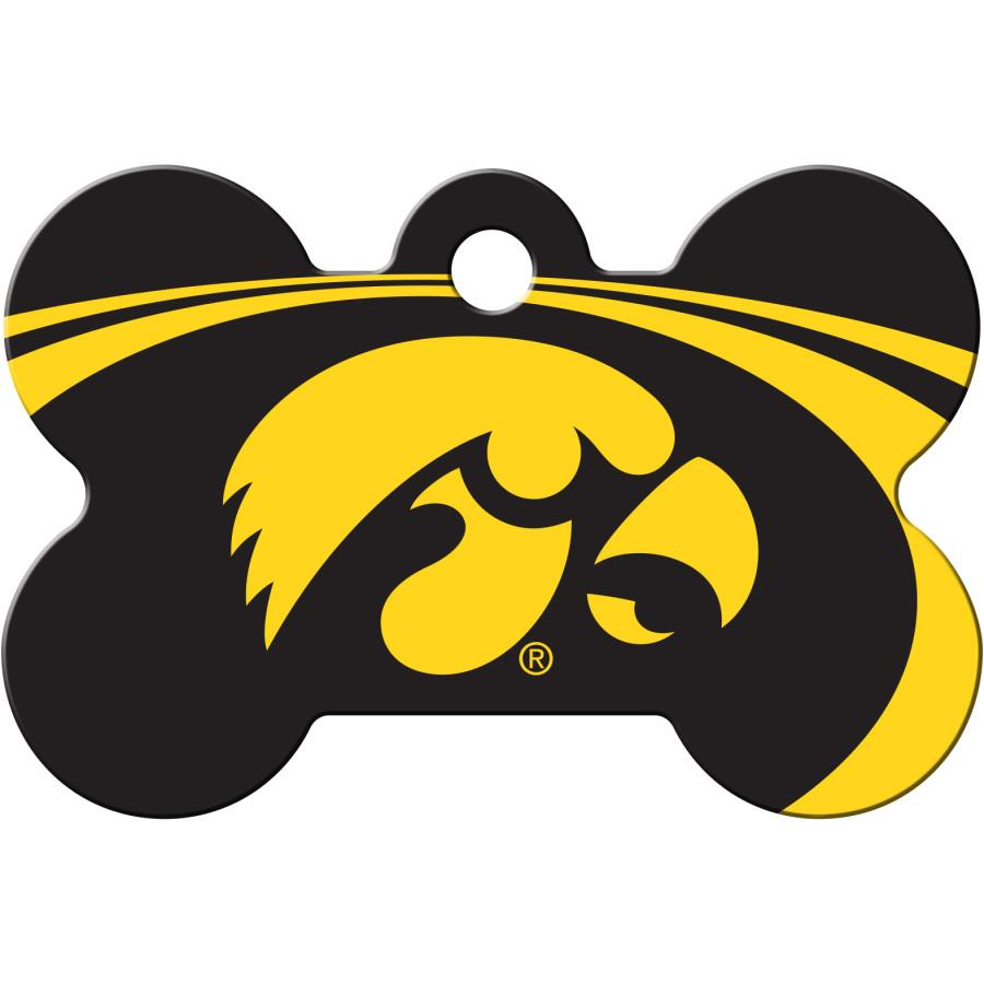 Iowa Hawkeyes  NCAA Pet ID Tag - Large Bone