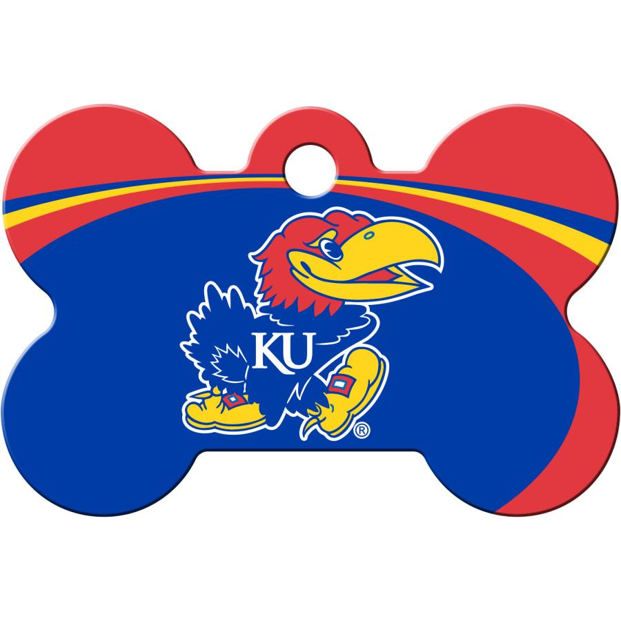 Kansas Jayhawks NCAA Pet ID Tag - Large Bone