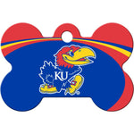 Load image into Gallery viewer, Kansas Jayhawks NCAA Pet ID Tag - Large Bone