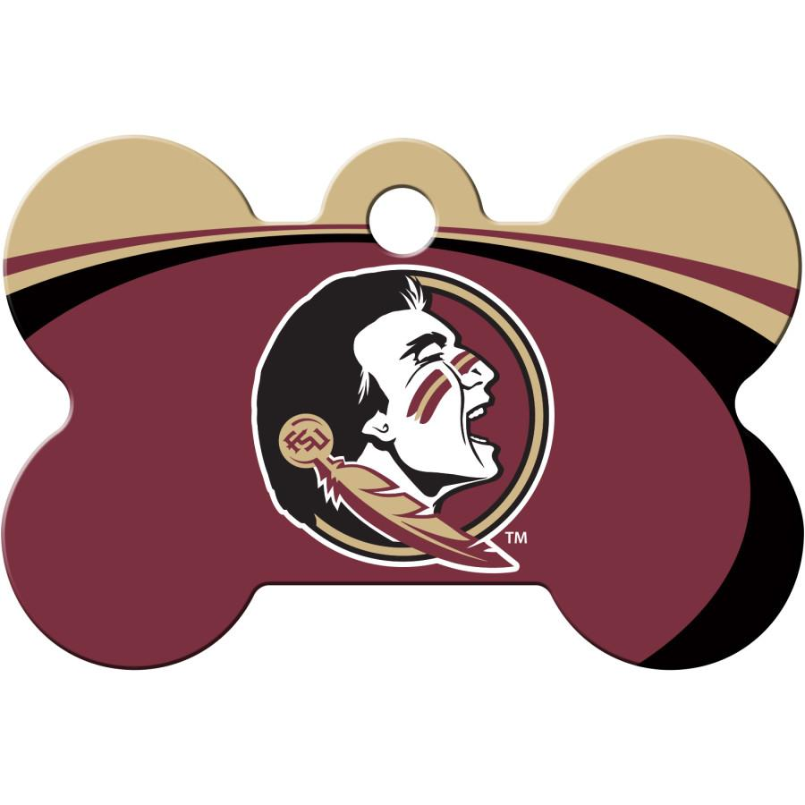 Florida State Seminoles NCAA Pet ID Tag - Large Bone