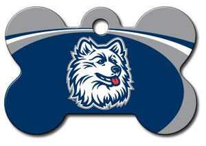 University of Connecticut Huskies NCAA Pet ID Tag - Large Bone - Uptown Pups