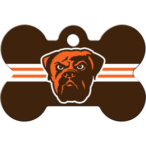 Cleveland Browns NFL Pet ID Tag - Large Bone