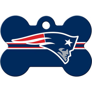 New England Patriots NFL Pet ID Tag - Large Bone