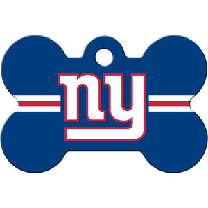 New York Giants NFL Pet ID Tag - Large Bone