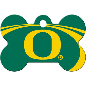 Oregon Ducks NCAA Pet ID Tag - Large Bone