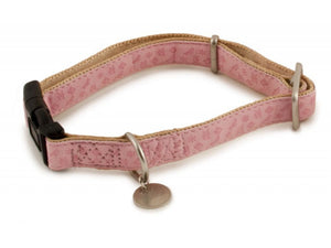 Premier Pet Bark Avenue Petal Pink Dog Collar