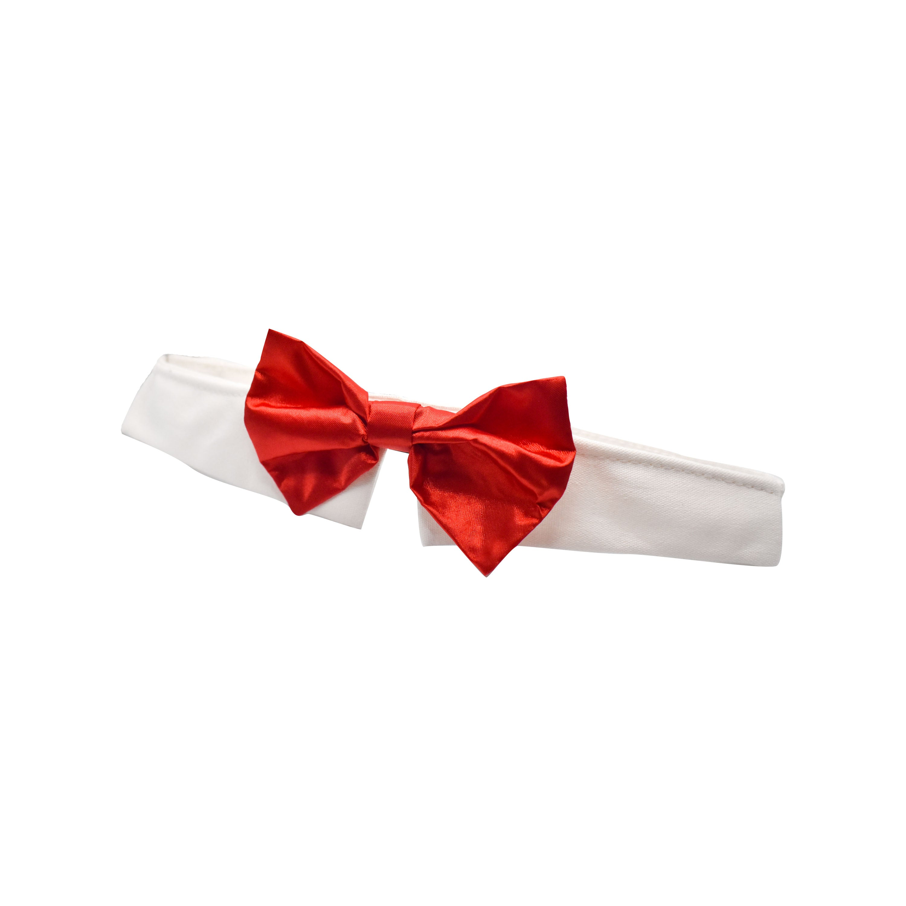 Red Satin Dog Bow Tie
