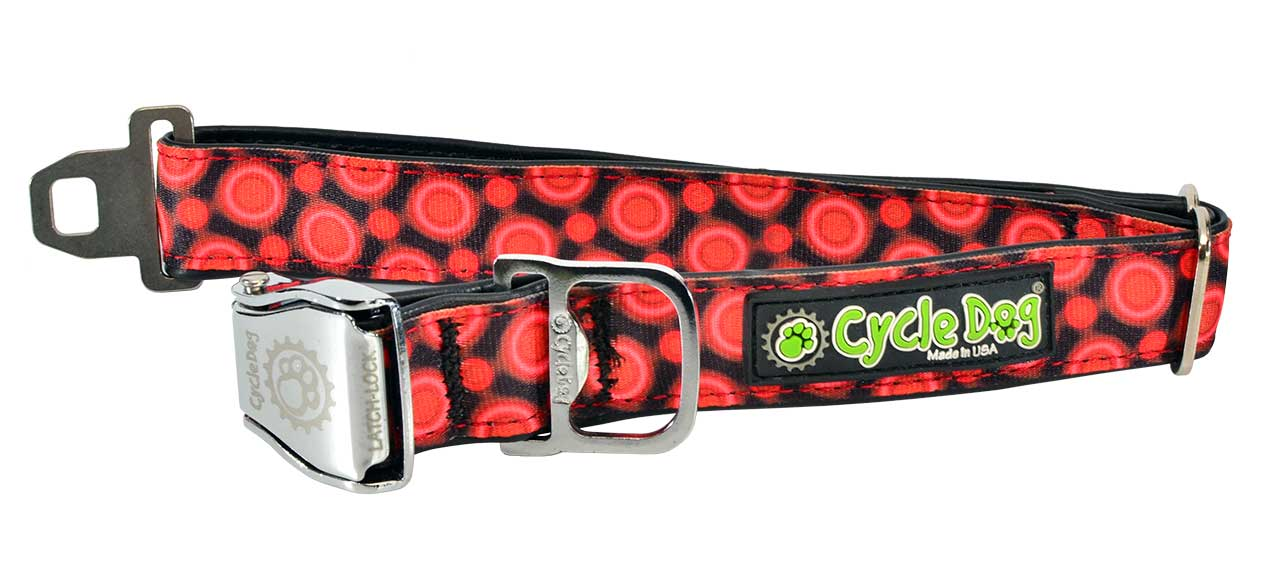 Cycle Dog Red SpaceDots Dog Collar - Uptown Pups