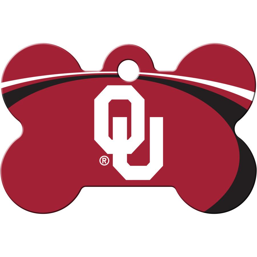 Oklahoma Sooners  NCAA Pet ID Tag - Large Bone