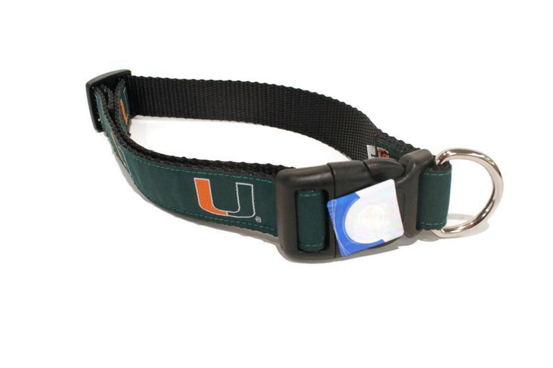 NCAA Dog Collar University of Miami Hurricanes - Uptown Pups